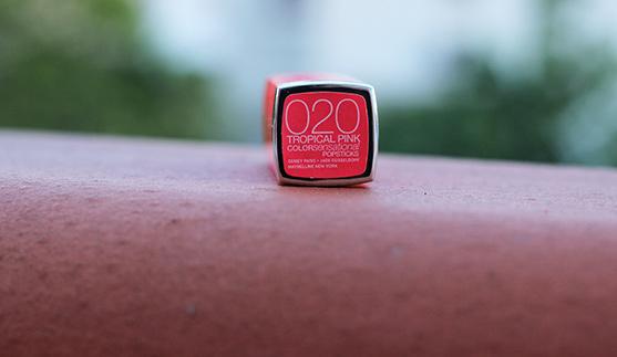 Color sensationnal popstick de Gemey Maybelline en teinte tropical pink