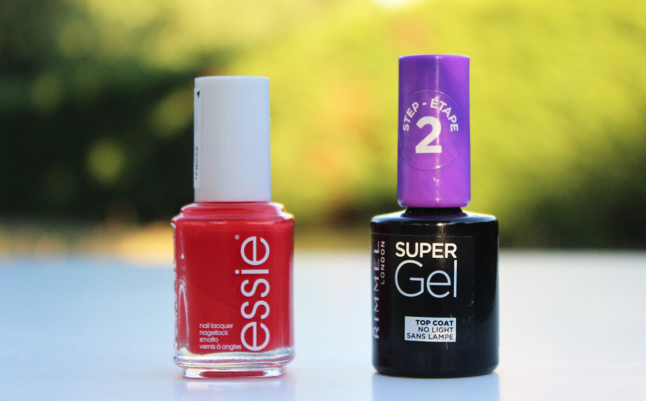 Vernis Essie Fifth Avenue et vernis Gel Coat Rimmel