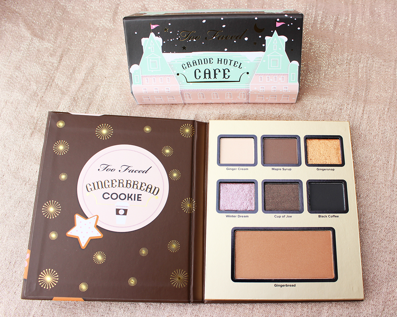 Too Faced Grande Hotel Cafe palette Gingerbread