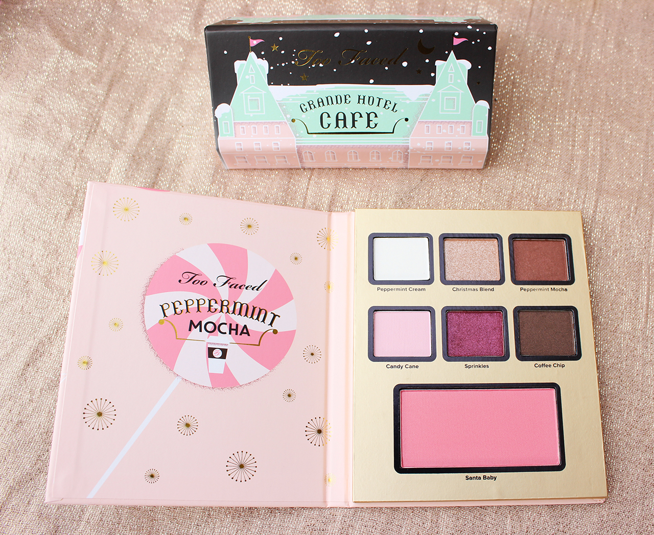 Too Faced Grande Hotel Cafe palette Peppermint Moka