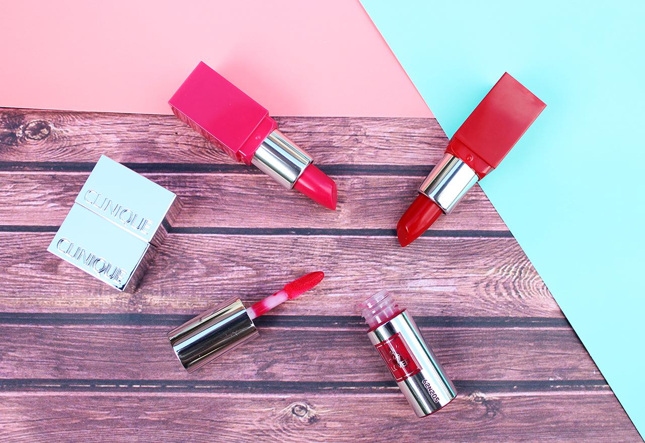 Rouges à lèvres Clinique Pop et Lancome