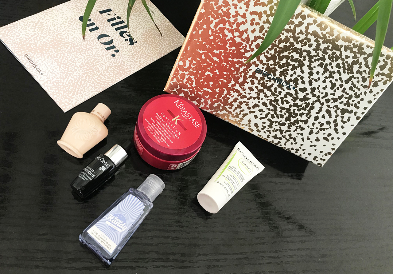 birchbox octobre une fille en or